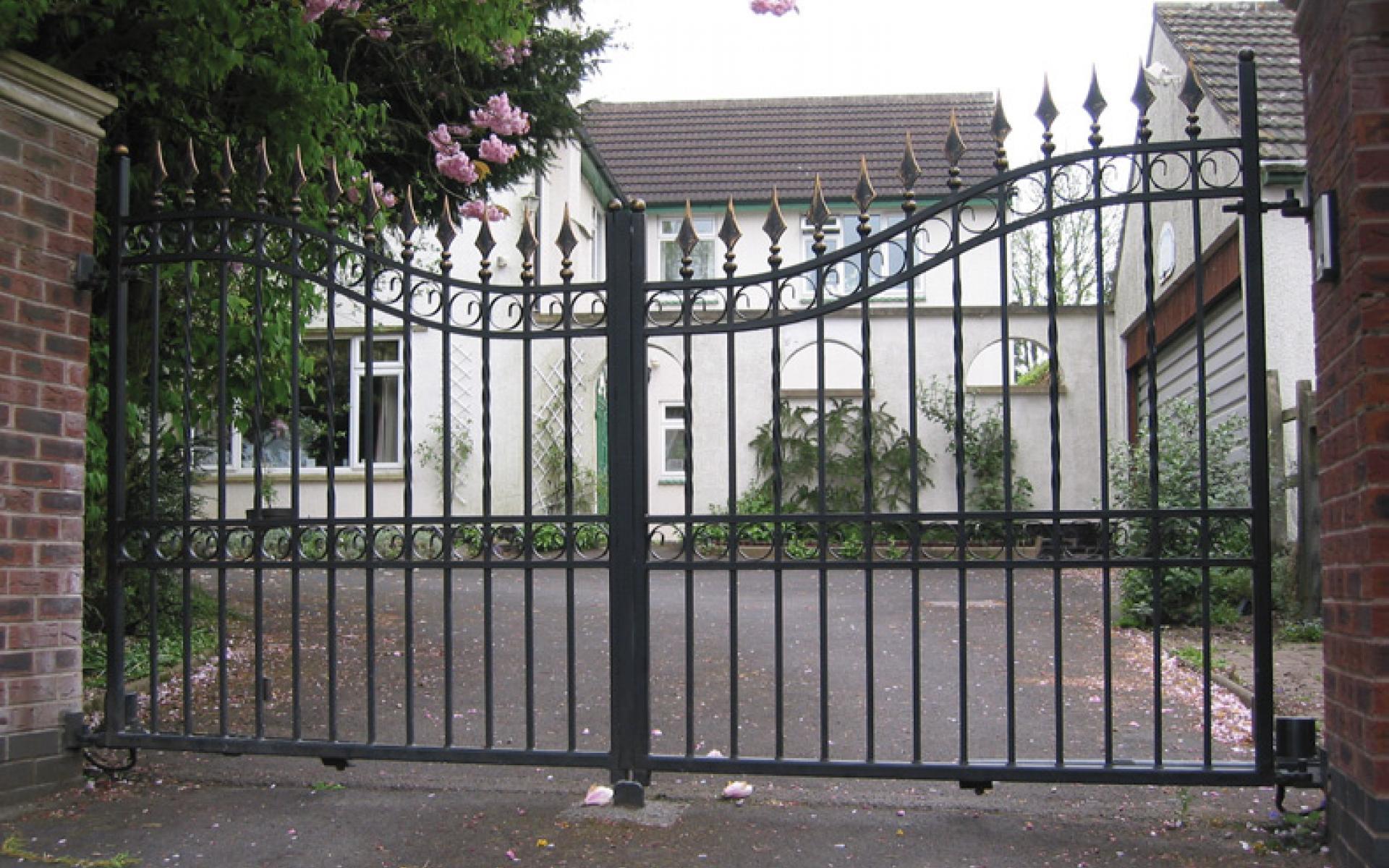 Autumn Hill wrought iron gate