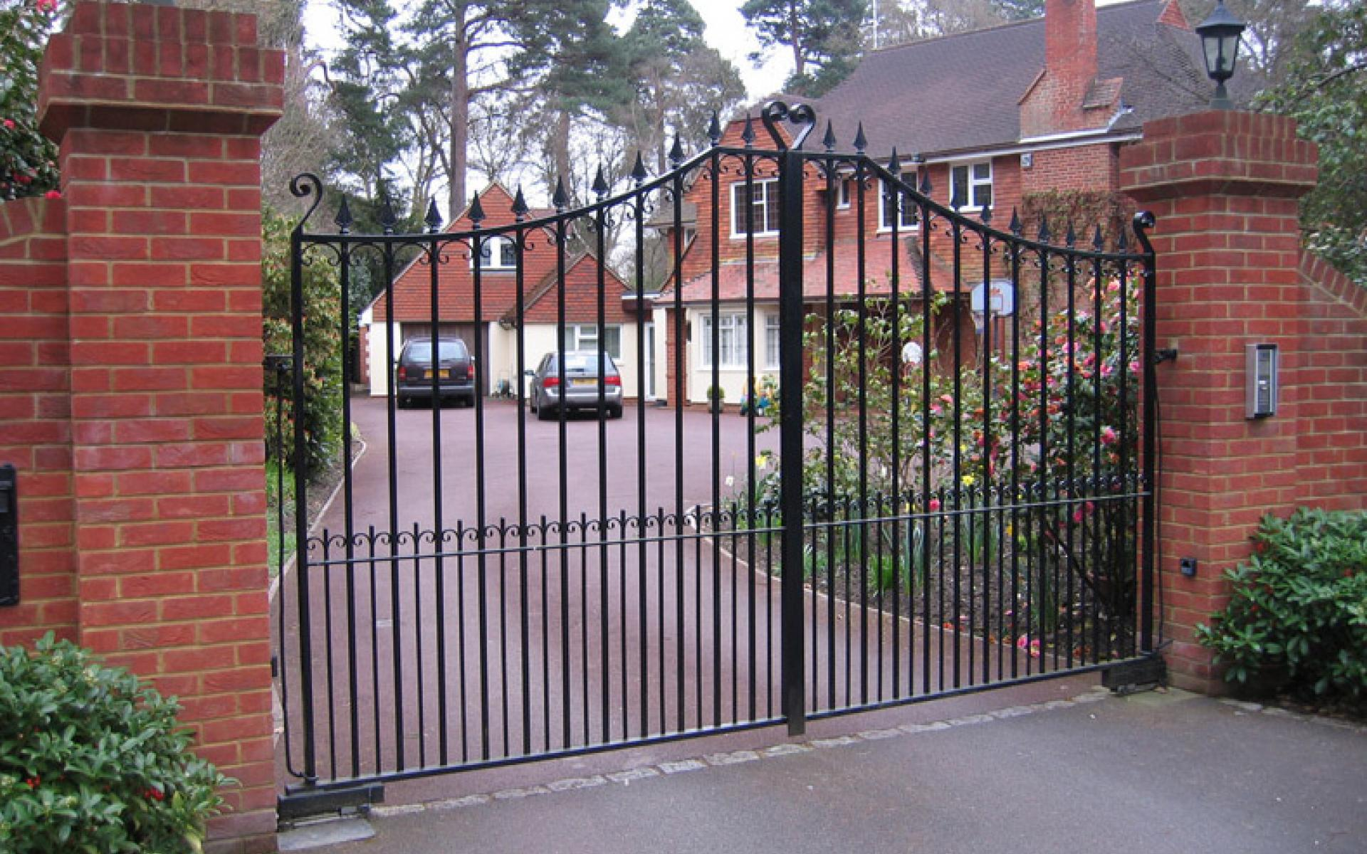 Epsom wrought iron gate