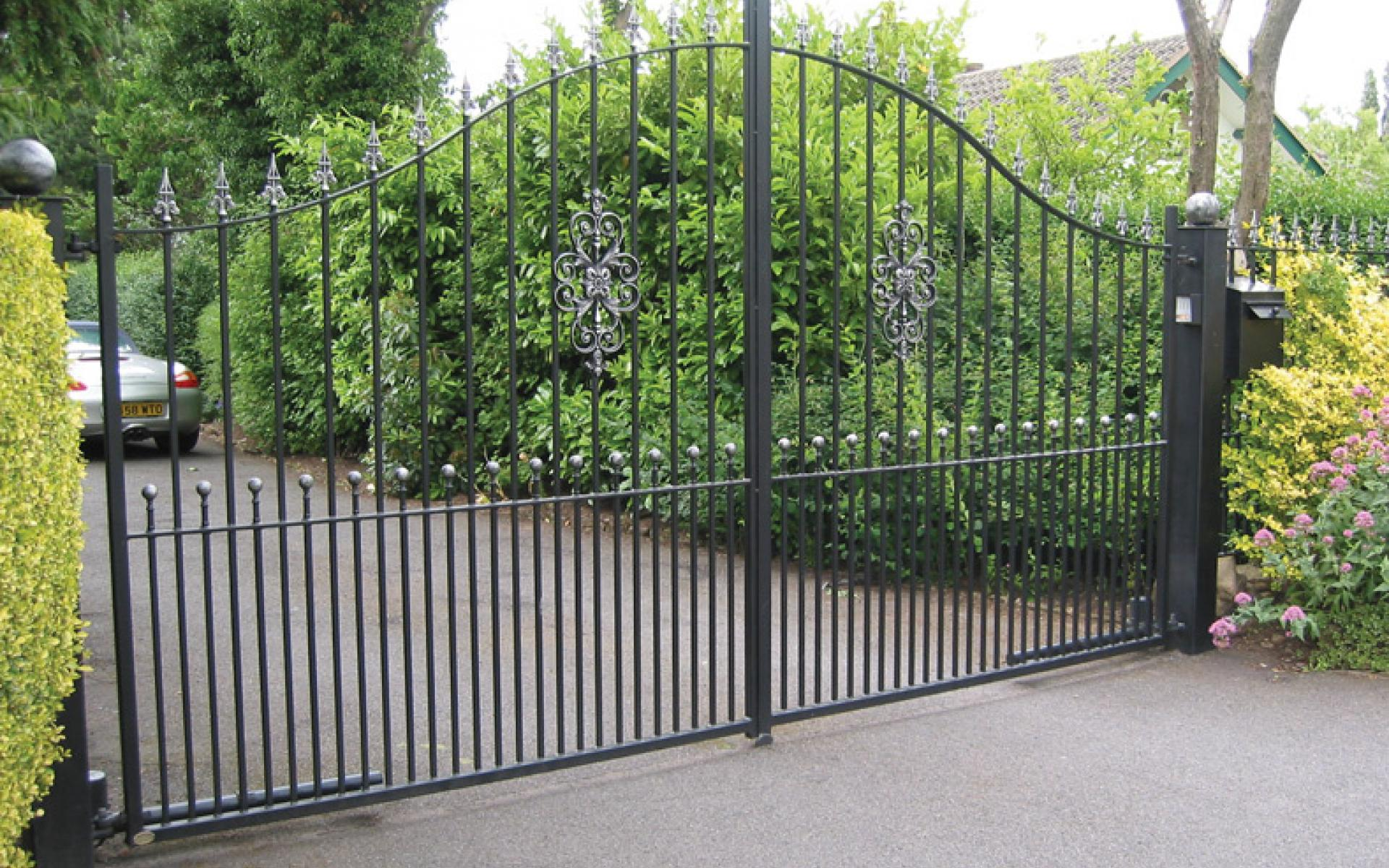 Harrington wrought iron gate