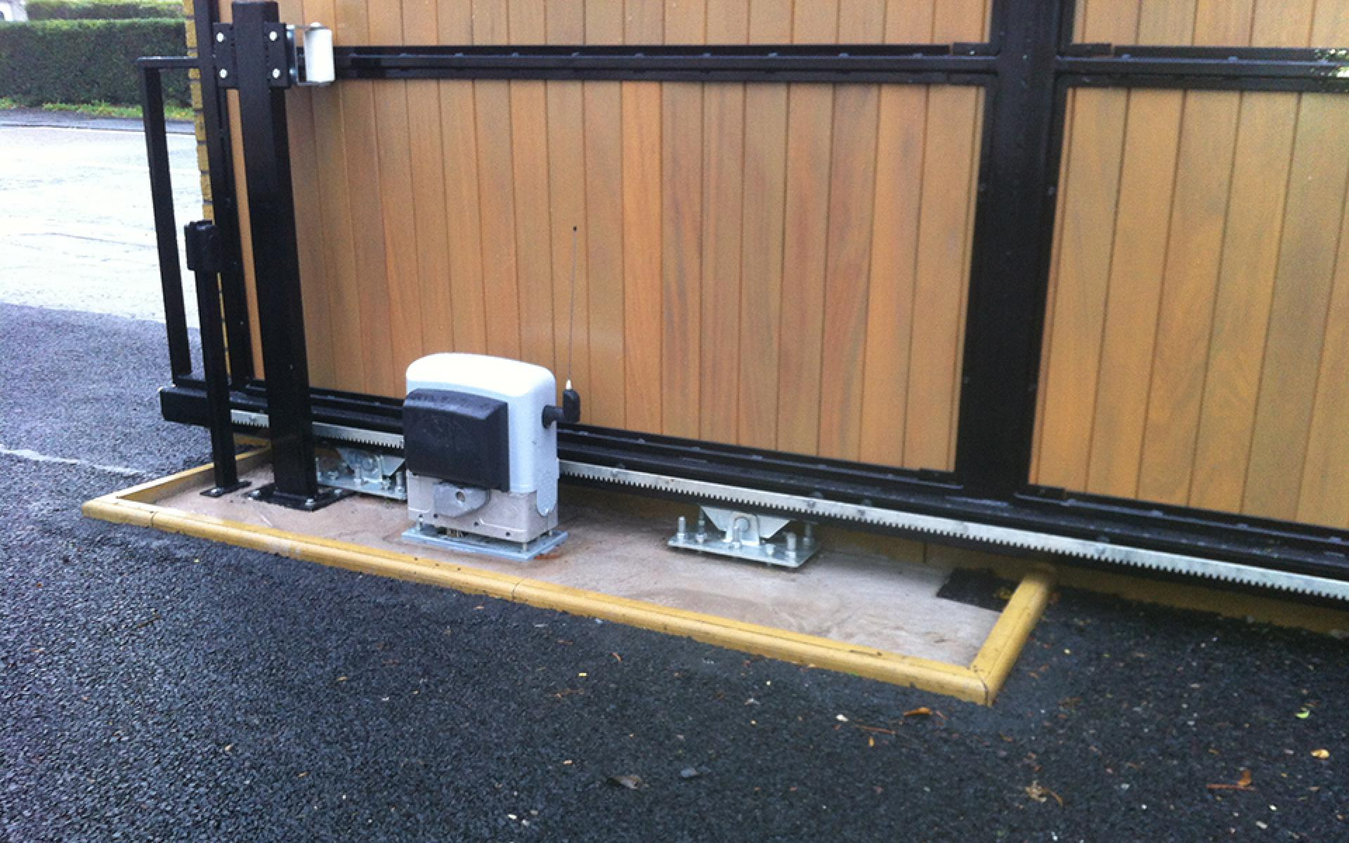 Sliding gate with CAME Bk automation (Courtesy of Gate Automation Co Ni)