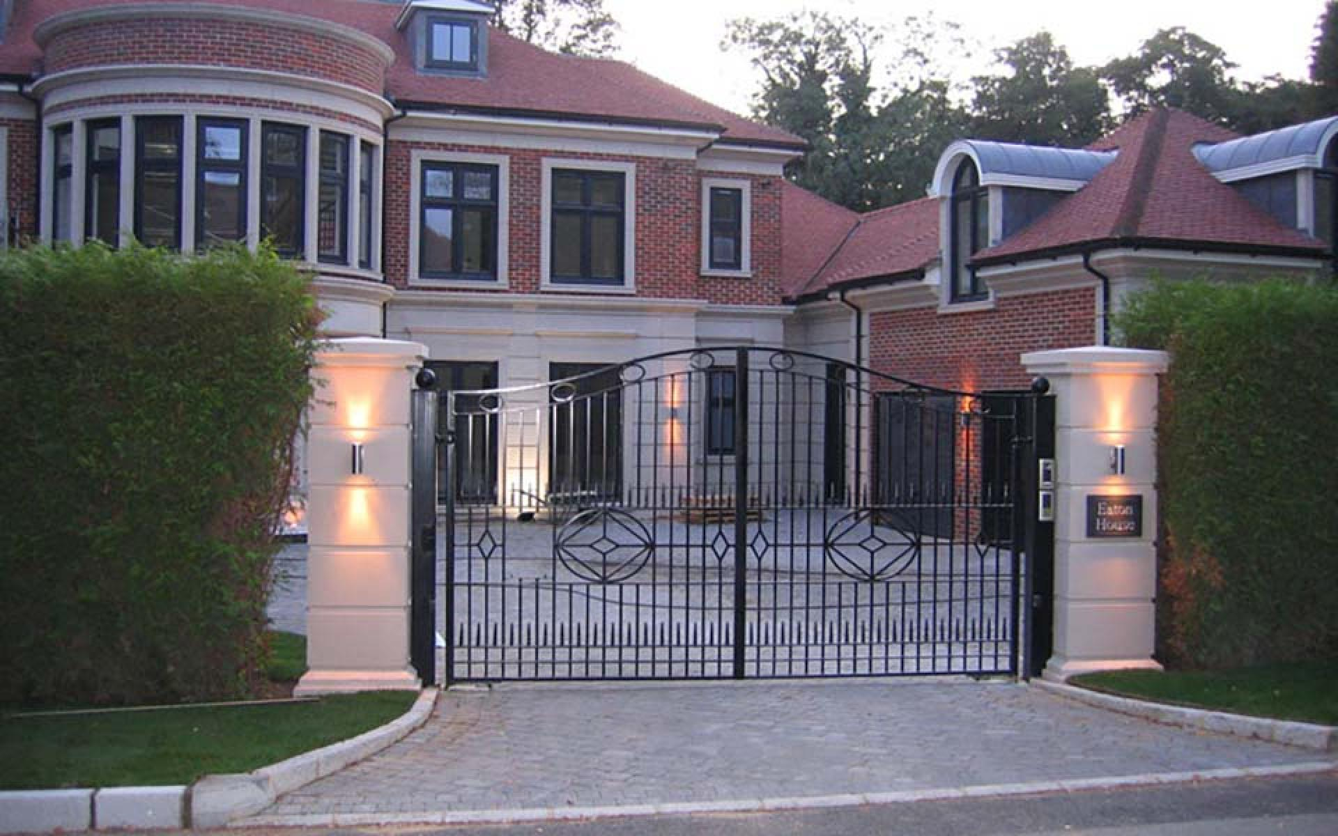 Eaton wrought iron driveway gate