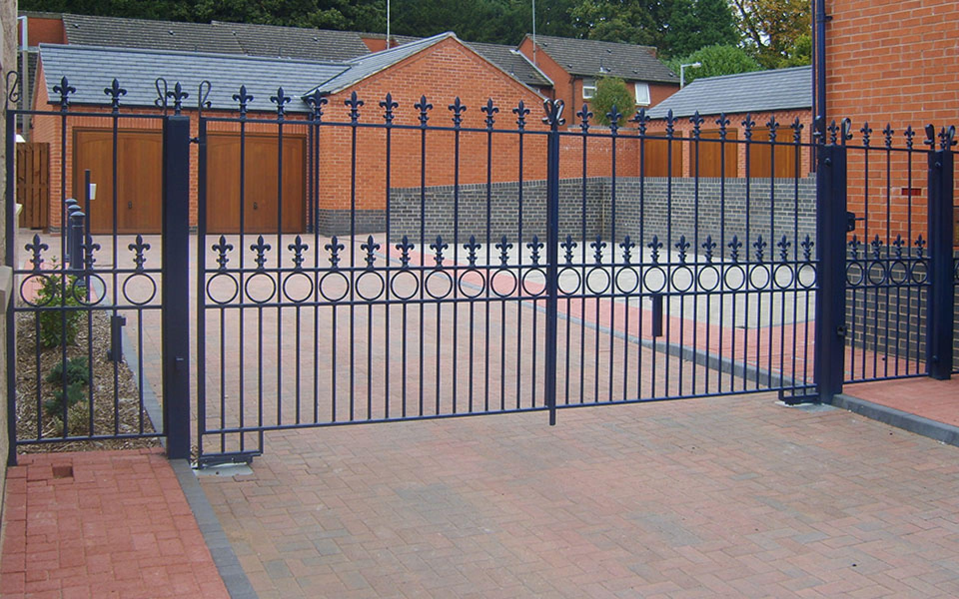 Alfreton wrought iron gate (Courtesy of Automation Gates)