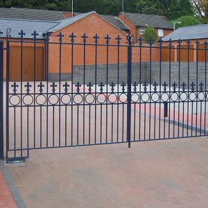 Alfreton wrought iron gate (Courtesy of Automation Gates)